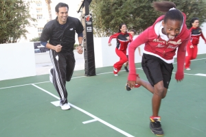 Coach Spo and NBA Fit celebration